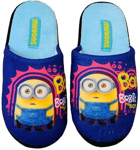 Minions Minion Niños Zapatillas - Pantuflas Tallas 27 - 34 Azul, Talla 31,5: Amazon.es: Zapatos y complementos