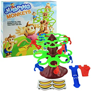 Buy Ekta Jumping Monkeys Board Game Small Catapult Toy Kids Games Toys 2 Players Online At Low Prices In India Amazon In