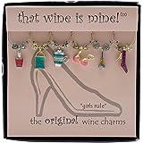 Wine Things WT-1408P Girls Rule Wine Charms, Painted
