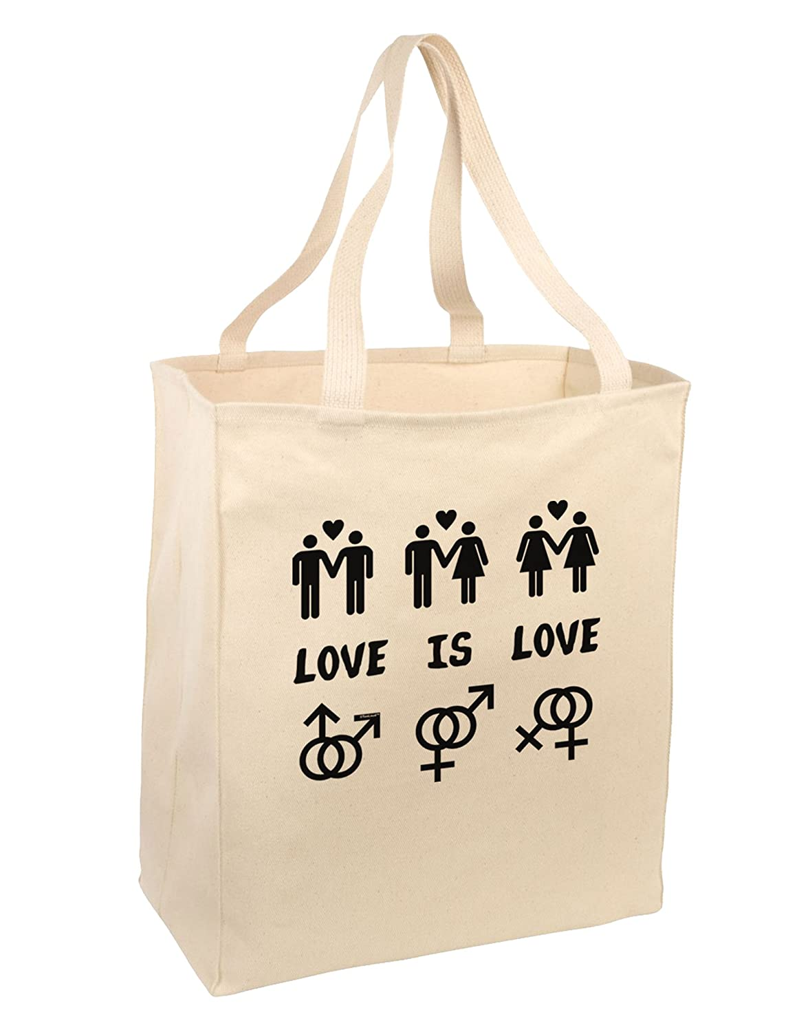 Amazon.com: Love Is Love LGBT Marriage Equality Large Grocery Tote  Bag-Natural: Kitchen & Dining