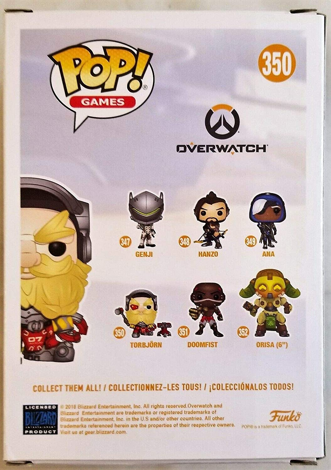 Keith Silverstein Autographed Signed Torbjorn Funko Pop 350 Overwatch Beckett Coa 99 at Amazons Sports Collectibles Store