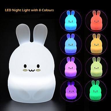 Lámpara Nocturna Infantil LED con Temporizador Remoto, Cálido ...