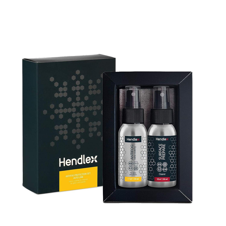 Hendlex Anti Fog Spray Nanorivestimento Trattamento Anti Nebbia Vetro e plastica Resistente all' Acqua Spray Auto Finestra Parabrezza vetri specchi Casco/Confezione Regalo (Edizione Limitata) Baltic Nano Technologies