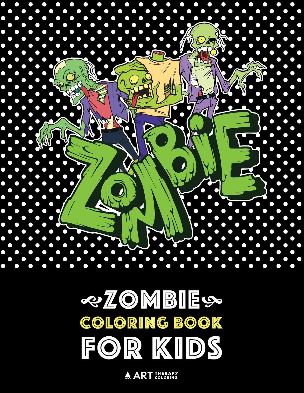Zombie Coloring Book Kids Relaxation