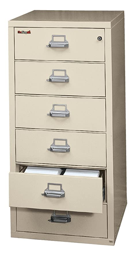 Fireking Fireproof Card, Check And Note File Cabinet (6 Drawers, Impact  Resistant,