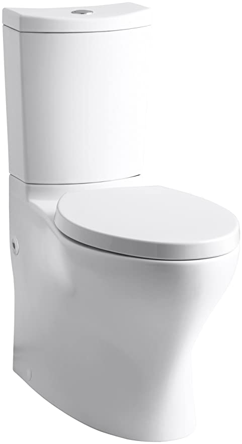Pleasing Kohler K 3723 0 Persuade Curv Comfort Height Two Piece Elongated Toilet White Toilet Seat Not Included Machost Co Dining Chair Design Ideas Machostcouk