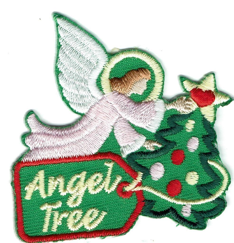 2Pcs Girl Boy Christmas Angel Tree Giving Donation Patches Crests Badges Scout Guide by De_saga