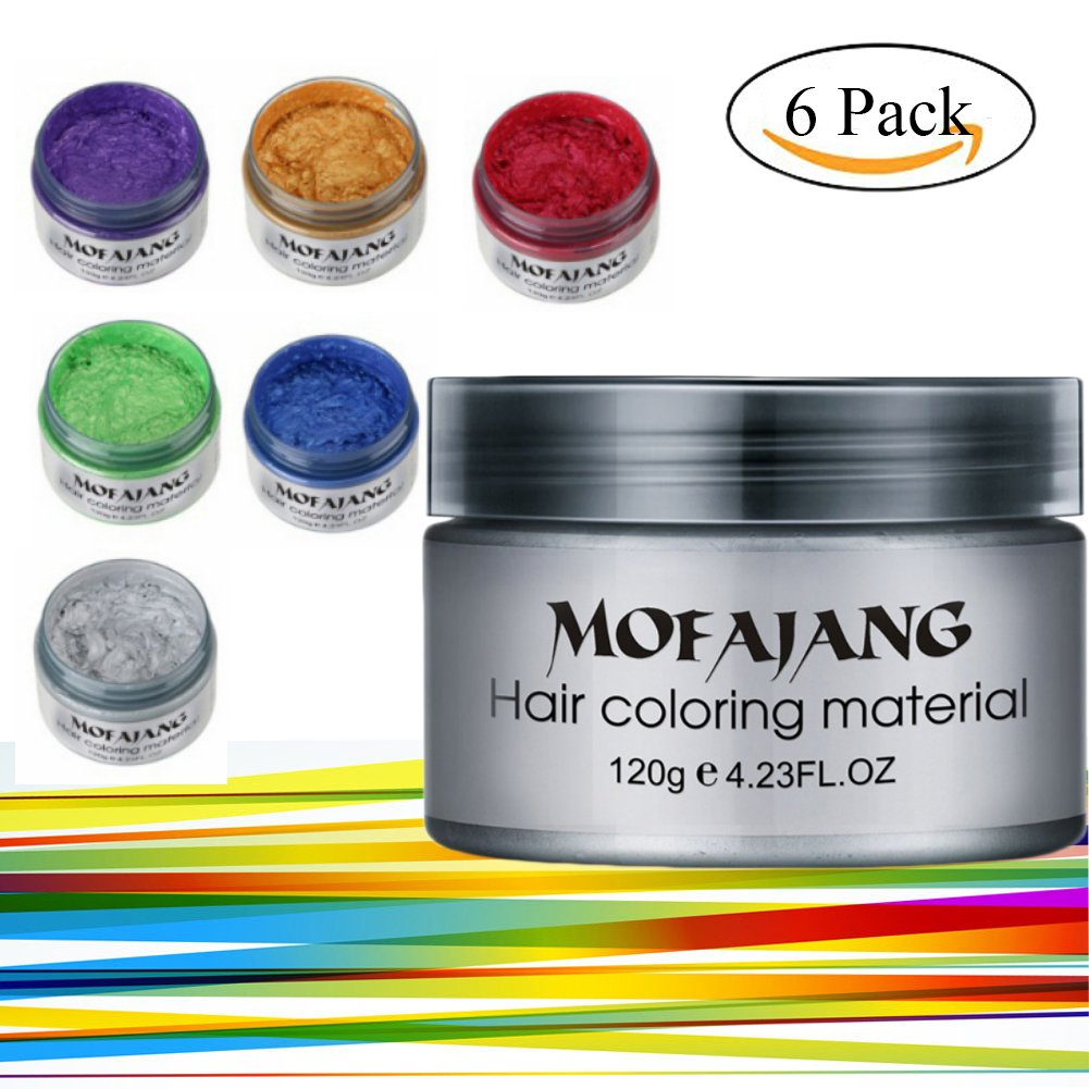 Amazon kyerivs hair chalk comb disposable instant hair color spdoo 6 colors unisex multi color temporary modeling fashion diy hair color wax mud hair solutioingenieria Image collections