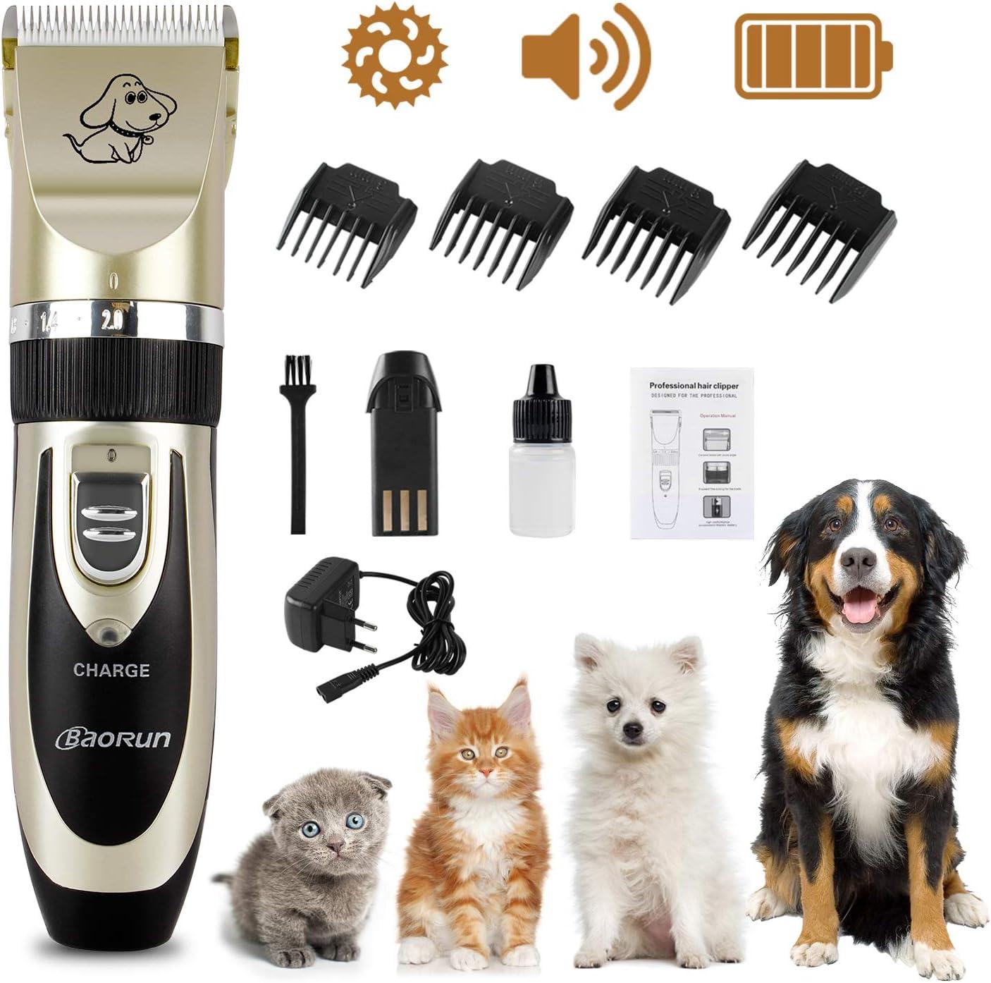 Leyee Tosatrice Elettrica per Animali Domestici Kit Ricaricabile per Rasatura Rasoio Cani Gatti a Basso Rumore Ricaricabile USB Animali Domestici 2
