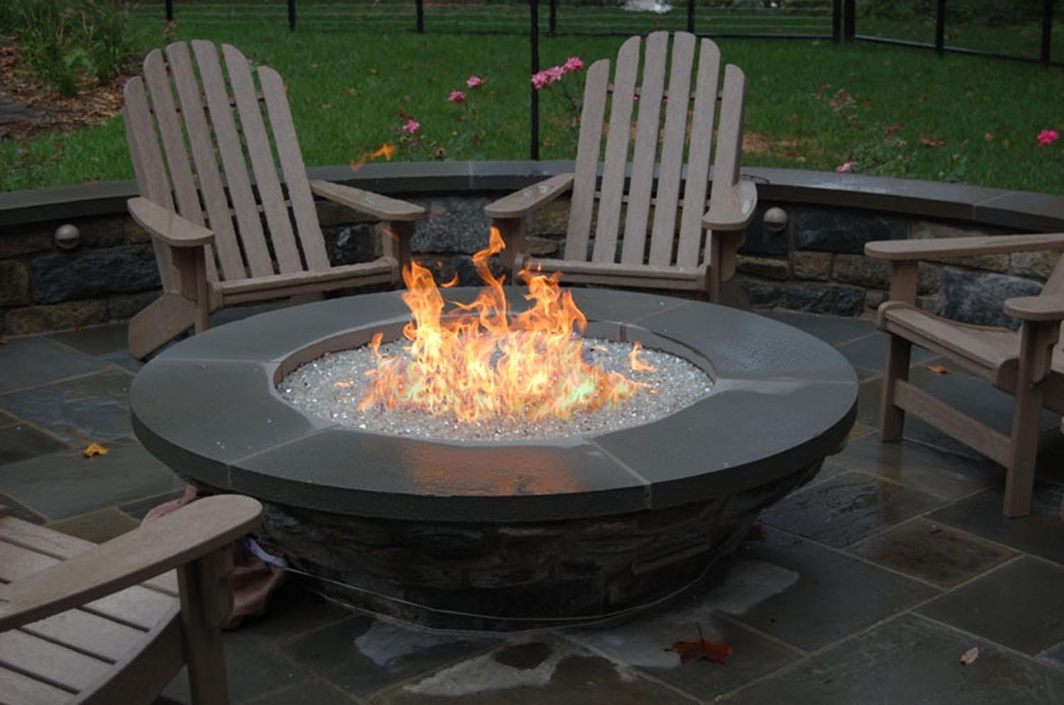 Amazon.com: HPC Penta Natural Gas Fire Pit Burner, 24 Inch: Sports U0026  Outdoors