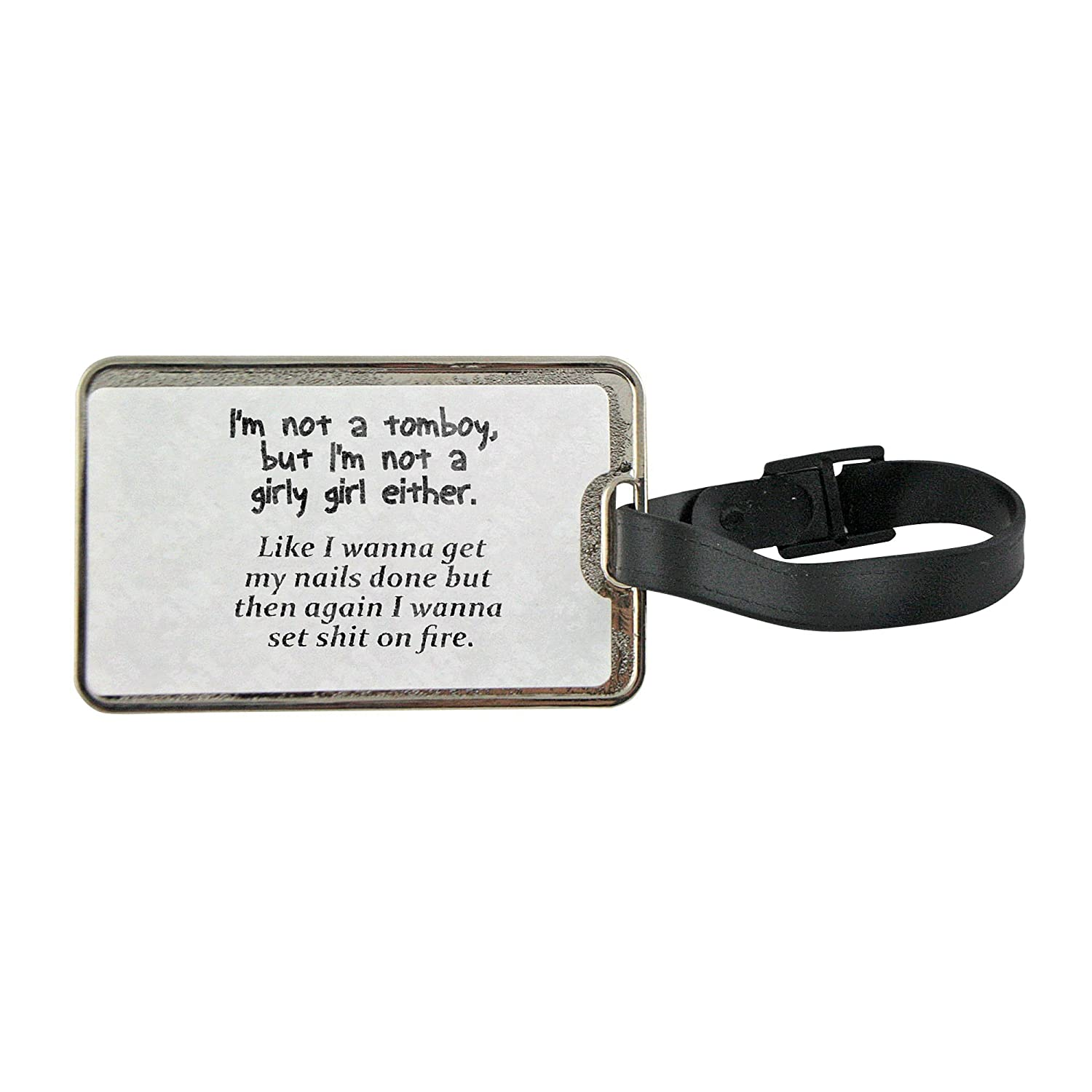 3da2caa14d low-cost Metal luggage tag with I m not a tomboy