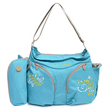 e0e85cb6d52ea Pierre Cardin PB88158 Baby Diaper Bag with Bottle Holder, Turquoise ...