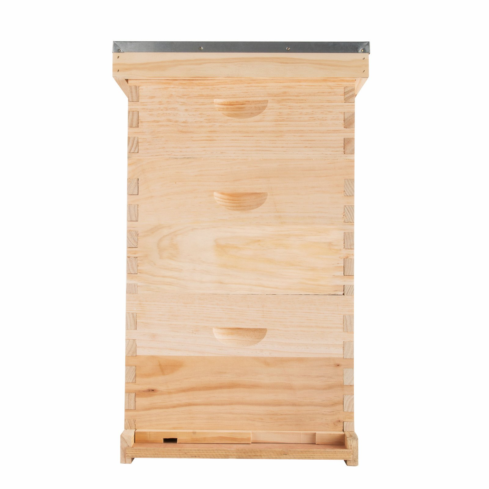 Popsport Langstroth Bee Hive 10 Frame 2 Deep 1 Medium Beehive Frames Complete Box Kit with Frames and Wax Foundations Beehive Bee House for Beekeepers (10 Frame 2 Deep 1 Medium Complete Box Kit)
