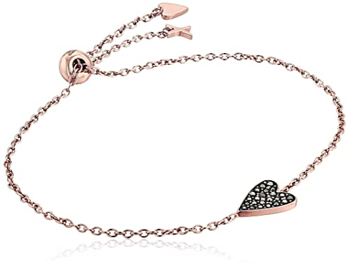 22a2fc4ae69 Fossil Women's Heart Rose Gold-Tone Stainless Steel Bracelet: Amazon ...
