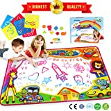 "Water Magic Drawing Mat Painting Doodle Mat Aqua Writing Board Toddlers Kids Drawing Handwriting Educational Learning Toy Gift for Boys Girls Birthday Gift for Kids Xmas 34.5"" X 22.5"""