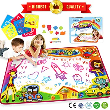 Amazon Com Water Drawing Mat Aqua Magic Water Doodle Mat Extra