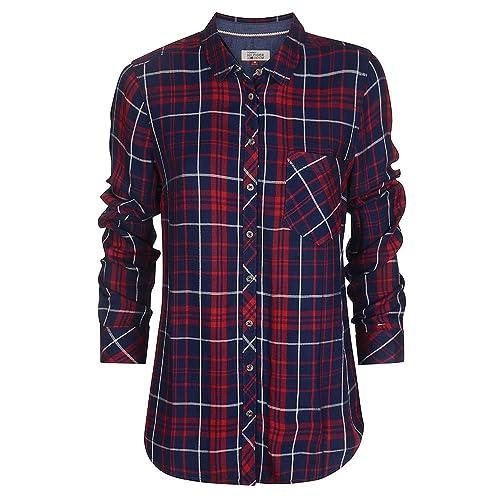 Camisa THDW DW0DW02993 Check L/S 44 Roja