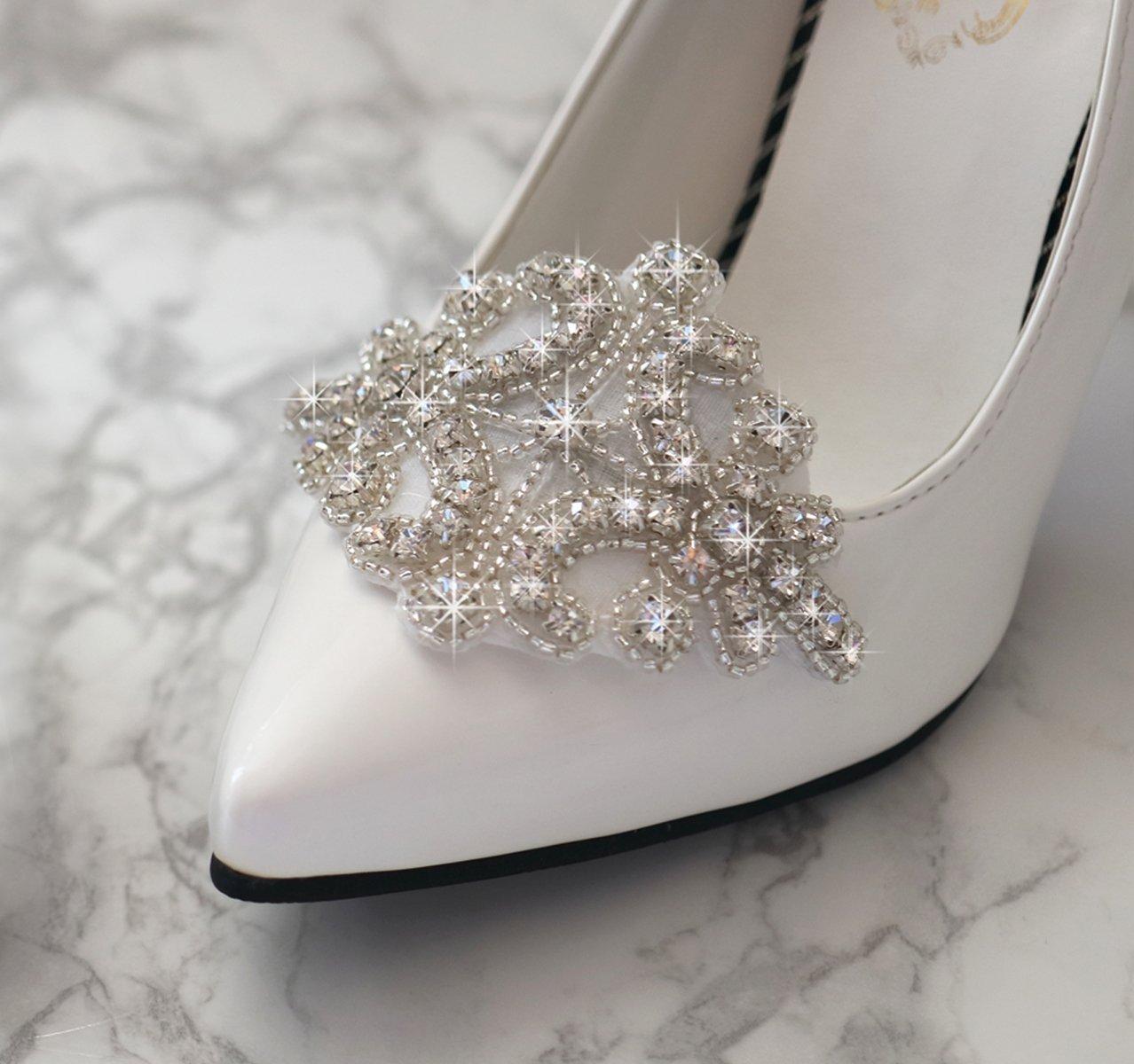 Rhinestone Applique Shoe Clips Shoe Ornaments Shoe Charm Accessories