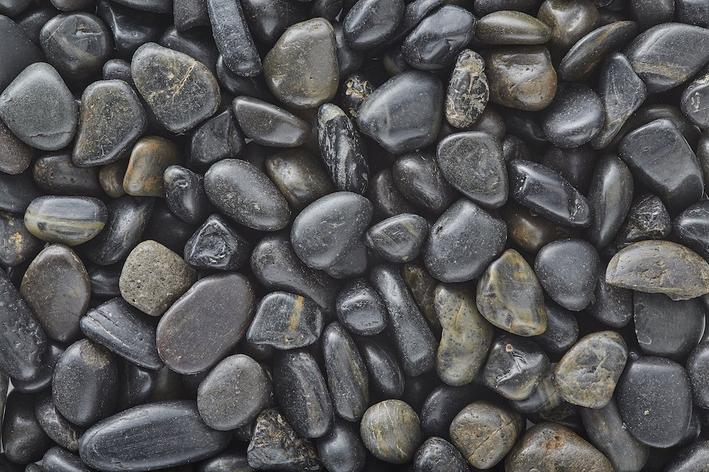 BLACK Polished Pebbles/Gravel (5lbs Bag) 3/8'' Aquarium, Terrarium, Decoration, Landscape, Vase or Pot Fill