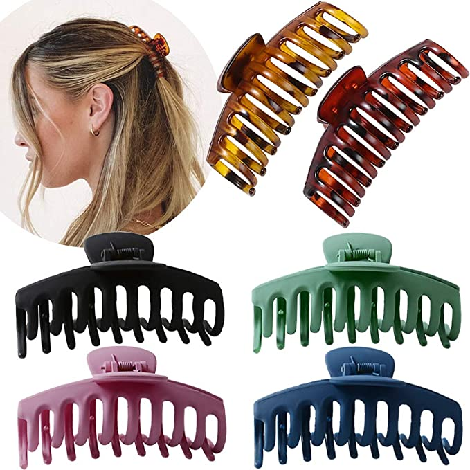 Large Hair Clip Claws Flower Barrettes Clasp Hairpin Clamp for Women Thick Hair