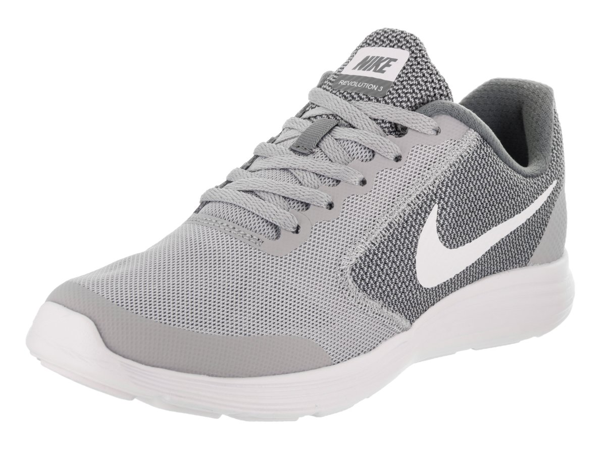NIKE ' Revolution 3 (GS) Running Shoes B007KQ219A 7 M US Big Kid|Wolf Grey/White/Cool Grey