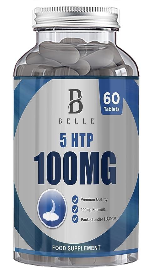 Suplemento de 100 mg de Belle® 5-HTP -Ayuda a aumentar los niveles ...