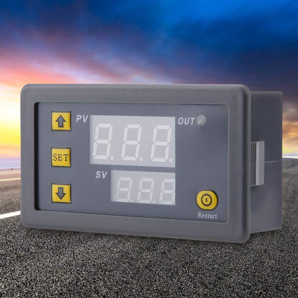 Ba30DEllylelly W3230 r/égulateur de temp/érature Thermostat double LED r/égulateur de temp/érature num/érique d/étecteur temp/érature compteur refroidisseur de chaleur