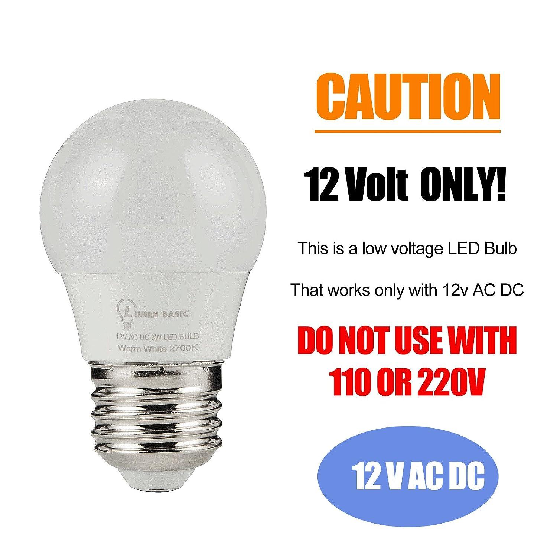 Lumenbasic 12v Led Bulbs E26 E27 12vdc 12vac Light Low 220v Volt Voltage Edison Ac Dc Screw In For Off Grid Solar Lighting Marine Boat Rv Camper