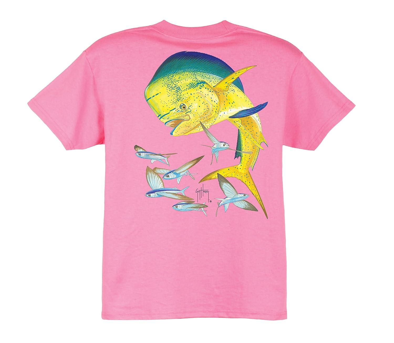Amazon.com  Guy Harvey Bull Dolphin Youth T-Shirt - Dark Pink - Medium   Novelty T Shirts  Clothing 9501eb99da40