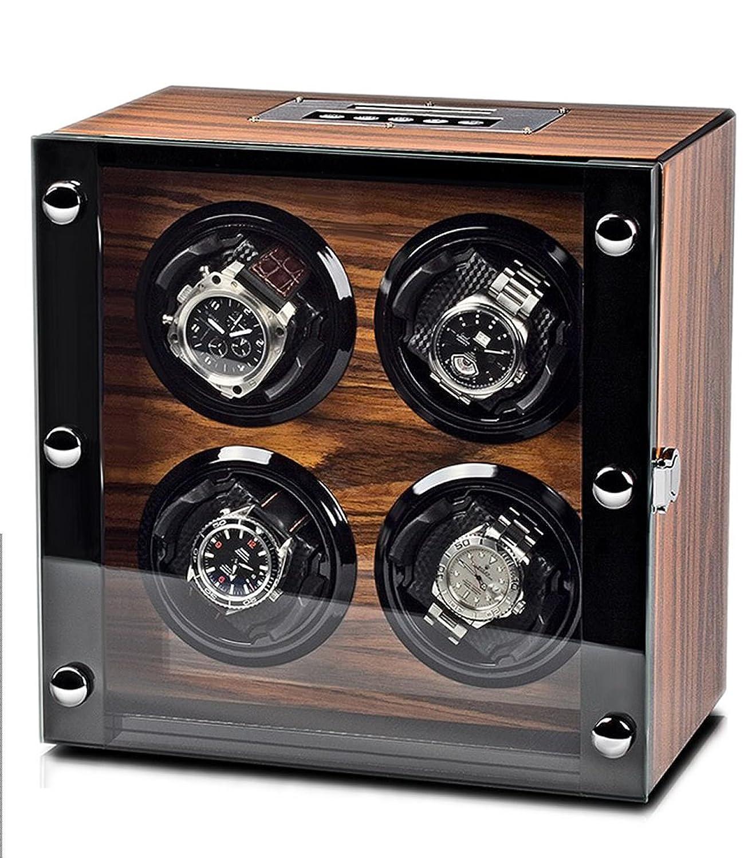 WATCH WINDER Lade Uhren Palisander Uhrenbox 4 Automatikuhren
