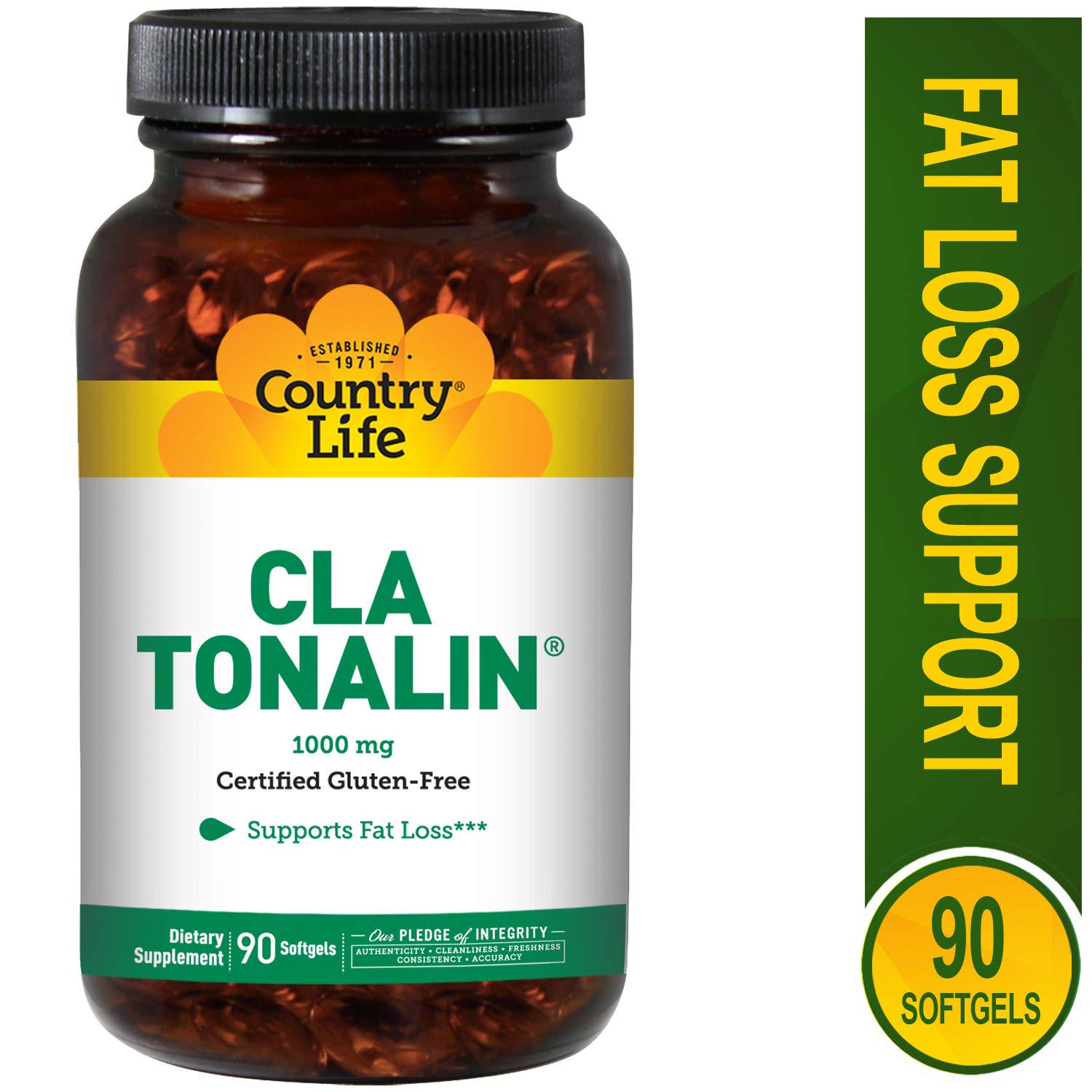 Country Life - CLA Tonalin, Supports Fat Loss - 90 Softgels by Country Life (Image #1)