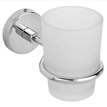 Mochen 100% Stainless Steel Tumbler Holder / Tooth Brush Stand Wall Mounted for Kitchen Bathroom