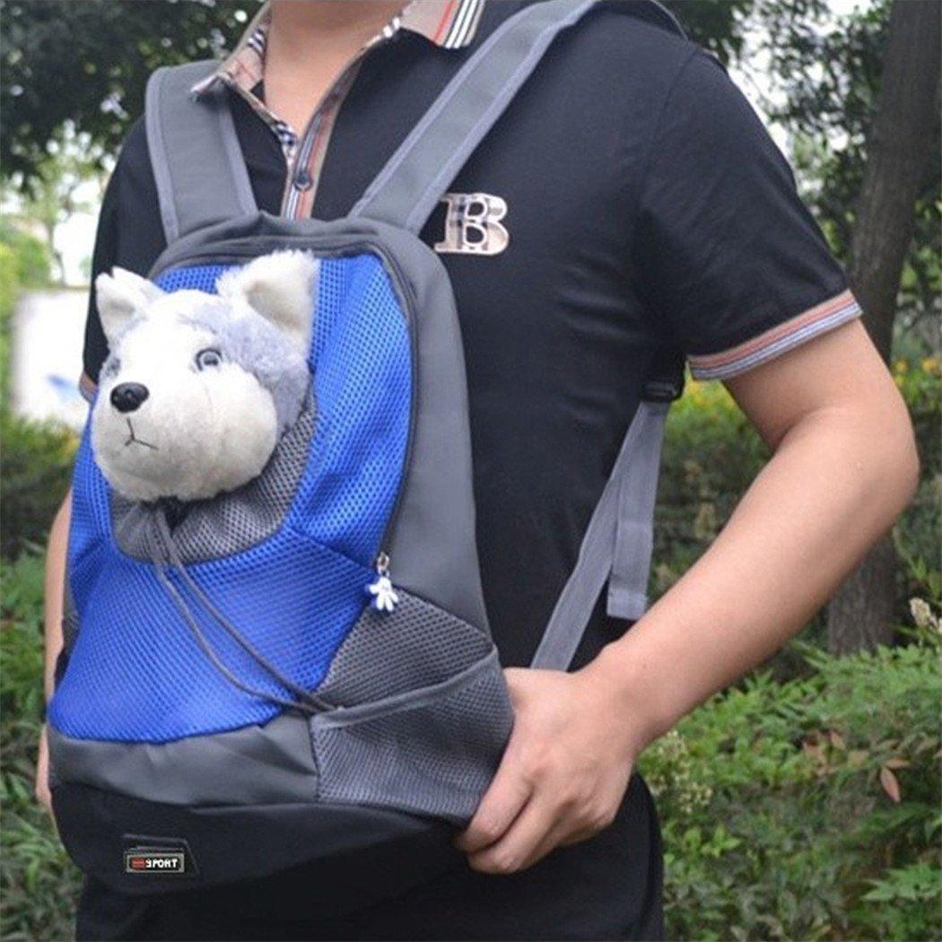 Mochila para gatos, Goodid mochila bolsa bolso hombro para llevar mascotas gatos y perros a salir y viajar con abertura (Azul, 37*26*13cm): Amazon.es: ...