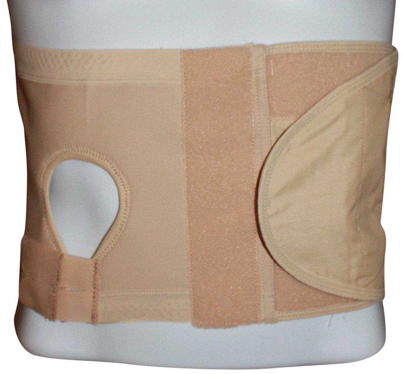 Safe n' Simple Left Hernia Support Belt with Adjustable Hole, 20cm, Beige, X-Small