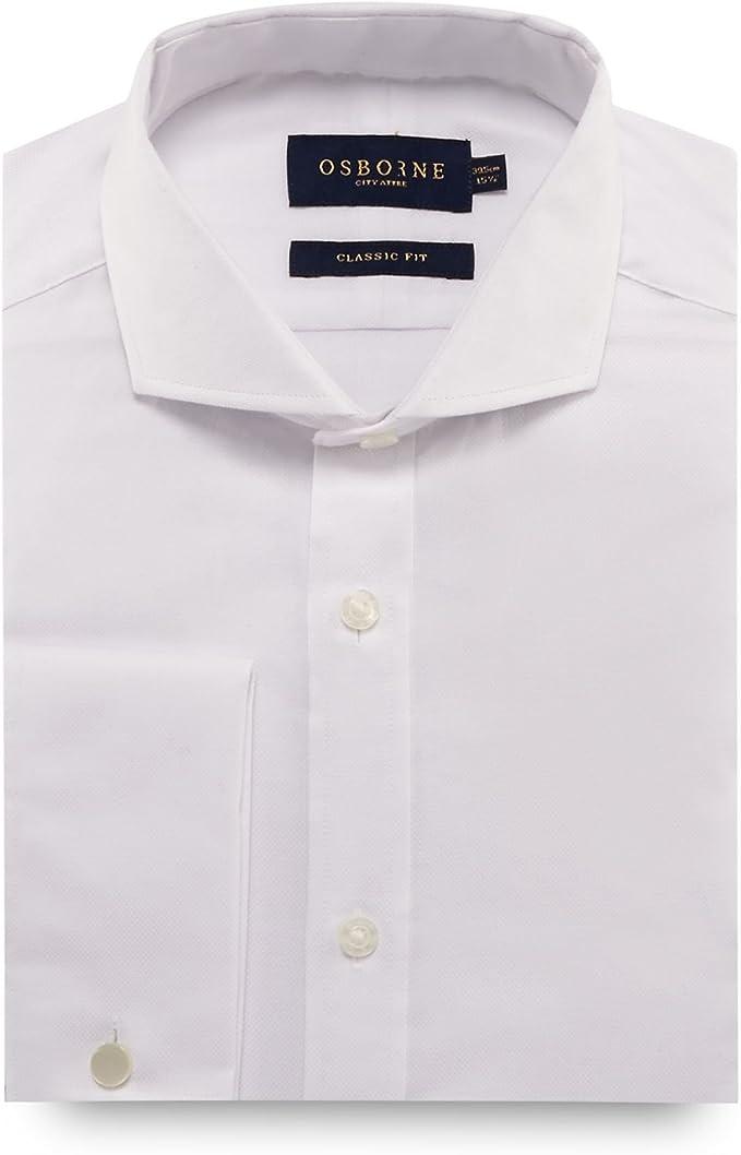 Osborne Camisa Casual - Para Hombre Blanco Blanco 38: Amazon.es: Ropa y accesorios