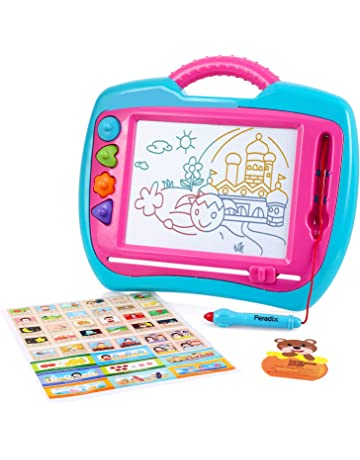 Peradix Pizarra Magica para Niños, Portátil Tablero Magnética Almohadilla Borrable de Escritura y Dibujo,