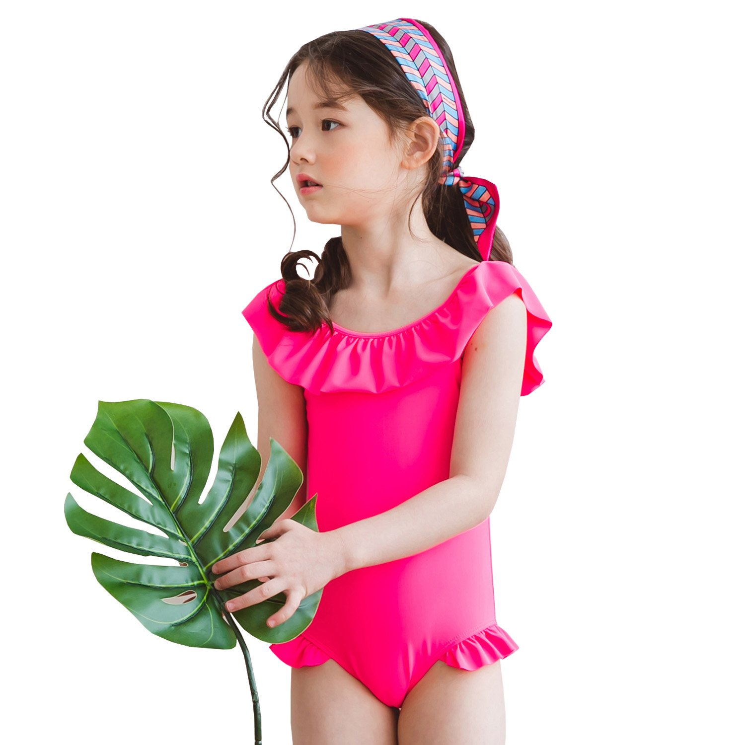 b7b2d9f5e16 Amazon.com: Tablier Kids Girls Ruffle One Piece Swimsuit: Clothing