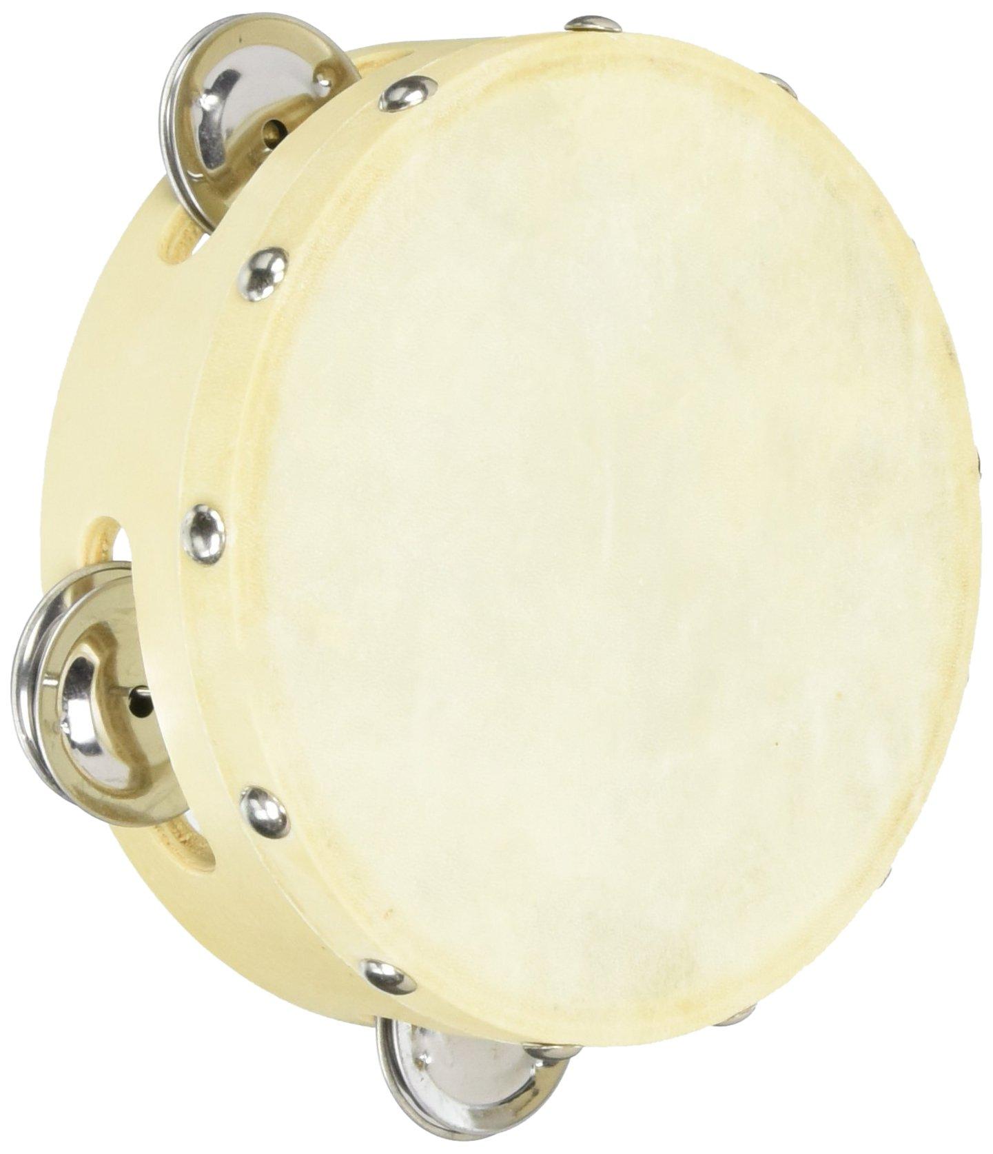 Cannon UPTAMB6S04H 6-Inch Single 4PRS Tambourine with Head
