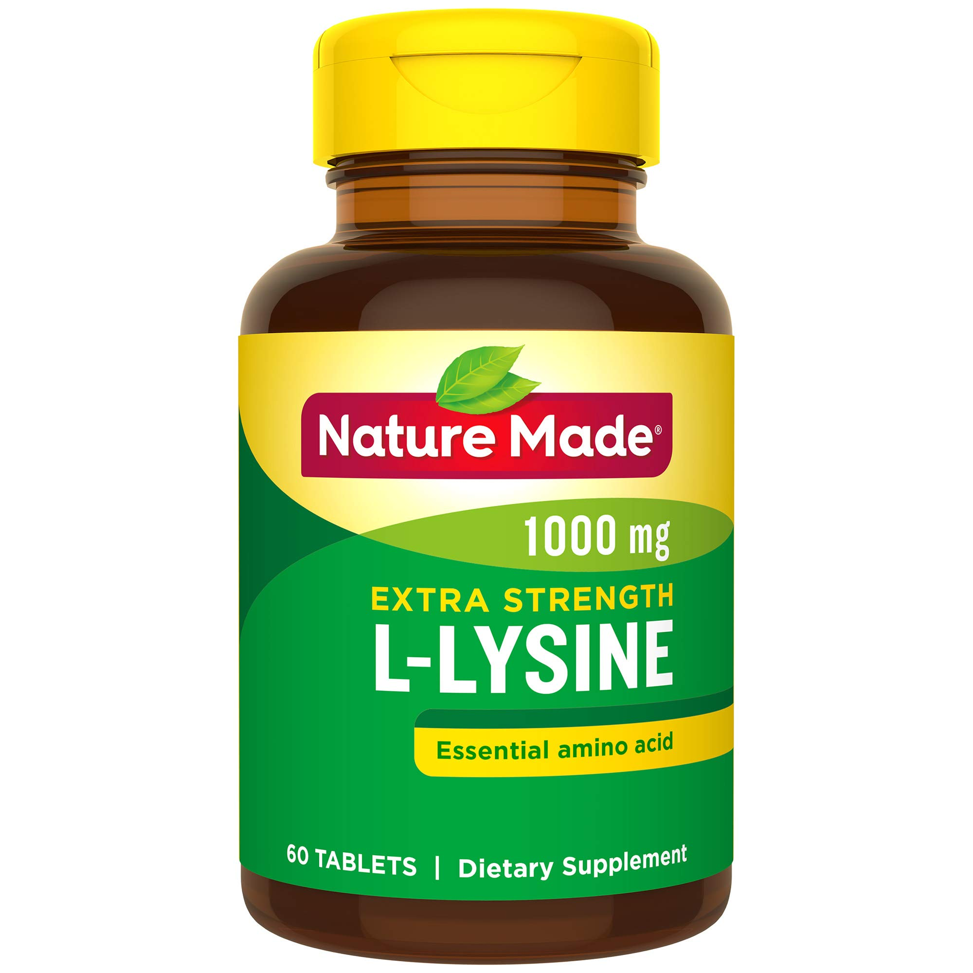 Nature Made L-Lysine 1000mg, 60 Tablets (Pack of 3) by Nature Made