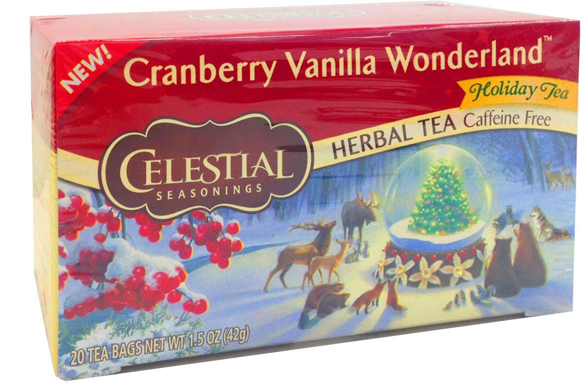 Celestial Seasonings Tea, Cranberry Vanilla Wonderland, 20 Count
