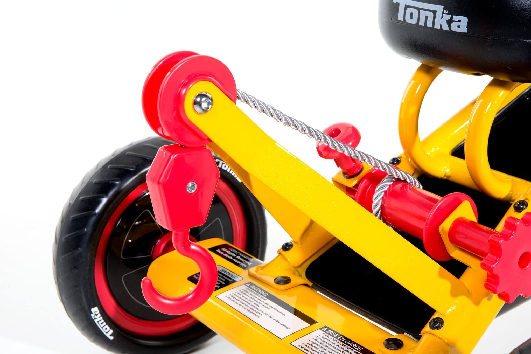 Dynacraft Tonka Tricycle, 10-Inch, Yellow/Red/Black