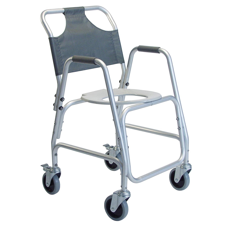 "Lumex Deluxe Shower Transport Wheelchair with Footrests - Waterproof Design & 5"" Wheels - 7915A-1: Industrial & Scientific"