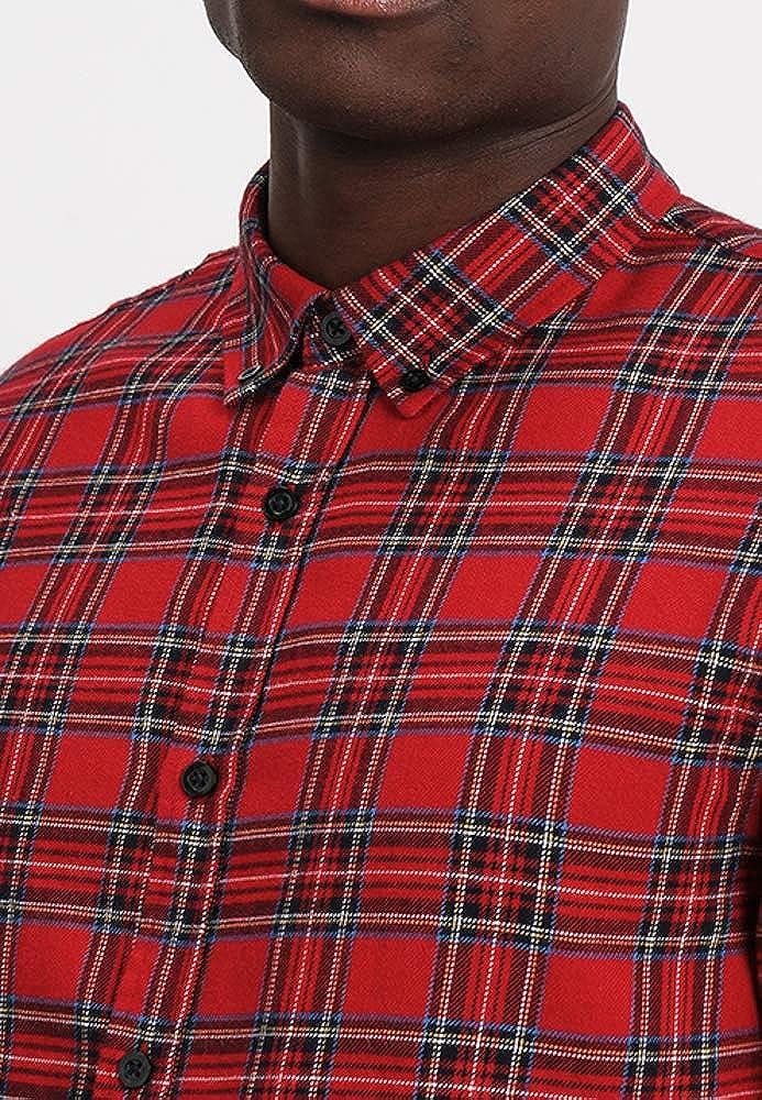 Pier One - Camisa Formal - para Hombre Rojo XL: Amazon.es: Ropa y ...