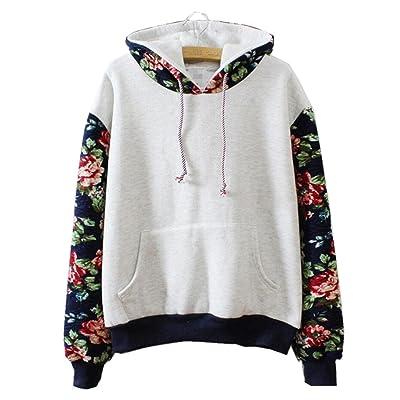 Aeneontrue Femmes Sweatshirt Automne Hiver Sweats à Capuche Pull Hoodie Hauts Veste Pullover Jumper Longues Manche Tops Blouse