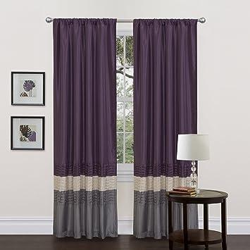 Amazon.com: Lush Decor Mia Curtain Panel Pair, 54-Inch by 84-Inch ...