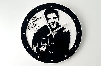 Reloj de pared original Elvis Presley, metacrilato, silencioso, moderno: Amazon.es: Hogar
