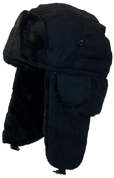 Best Winter Hats Adult Russian Aviator Faux Suede Leather w Faux Fur ... 9f1f494d8