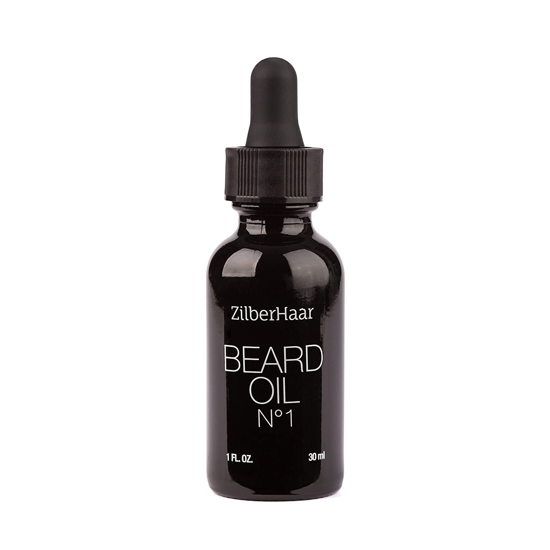 ZilberHaar Beard Oil #1 - Pure Organic Morrocan Argan and Jojoba Oil for Natural Beard Growth and Hydration - 1 oz - Free Beard Comb Gift