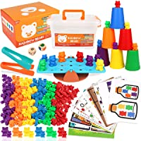 Boogem Rainbow Counting Bears Toys for Kids, 115Pcs Counting Teddy Bears Gift Set with Color Matching Sorting Cups…