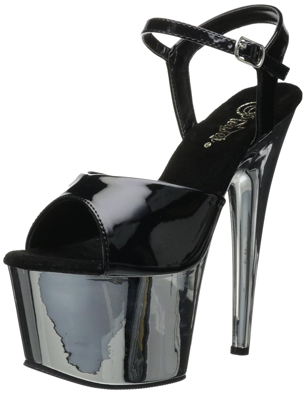 Pleaser Chrome)) Adore 709, Sandalo Sandalo Sandalo Donna Silber (Silber (Blk Pat   07e93e